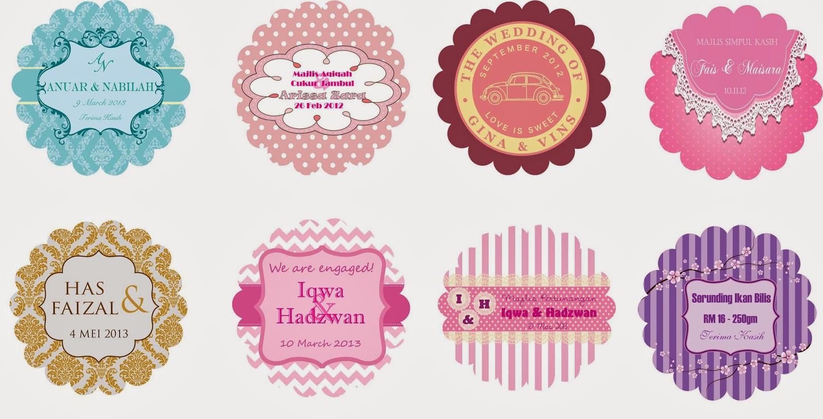 Wedding Door Gift Murah: Gambar Mai Wedding Door Gift Sticker Kahwin Bunting Button