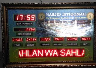 Jam Digital Masjid Pekalongan