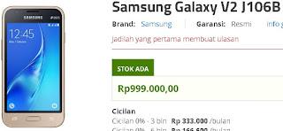 Harga Samsung Galaxy V2 J106B Smartphone Android murah