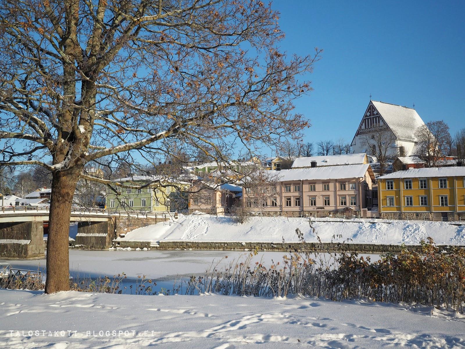 Porvoo, vanha kaupunki, talvinen maisema
