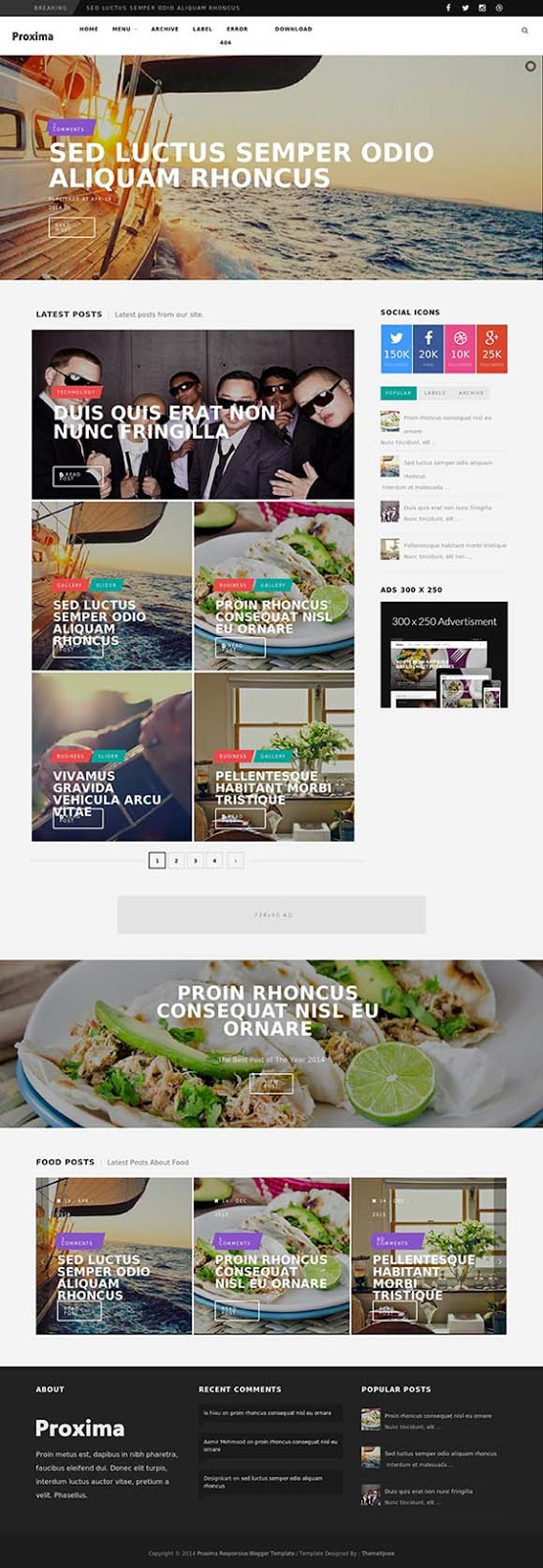 Proxima Responsive Blogger Template Themexpose