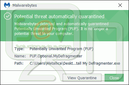 PUP.Optional.MyDefragmenter