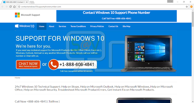 Contactwindows10supportphonenumber.com pop-ups