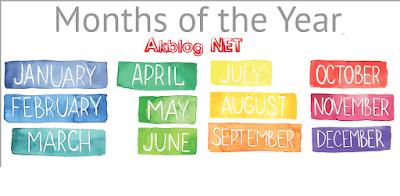 English Months İngilizce Aylar