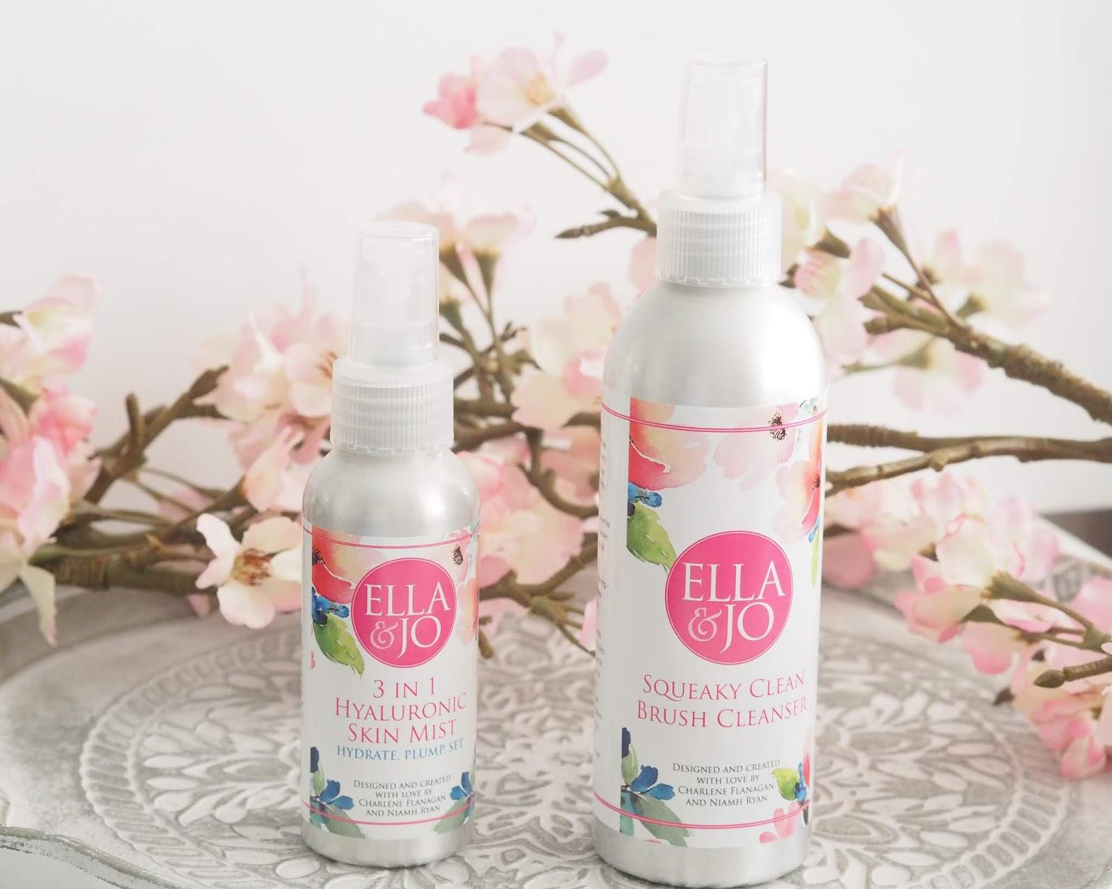 Ella & Jo Squeaky Clean Brush Cleanser & 3 in 1 Hyaluronic Skin Mist review!