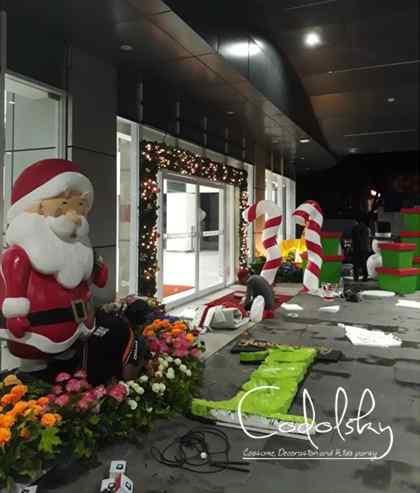 Dekorasi Styrofoam Natal & Tahun baru (Christmas & New year) : Santa claus, gate tongkat lolipop, kado, dan manusia salju.