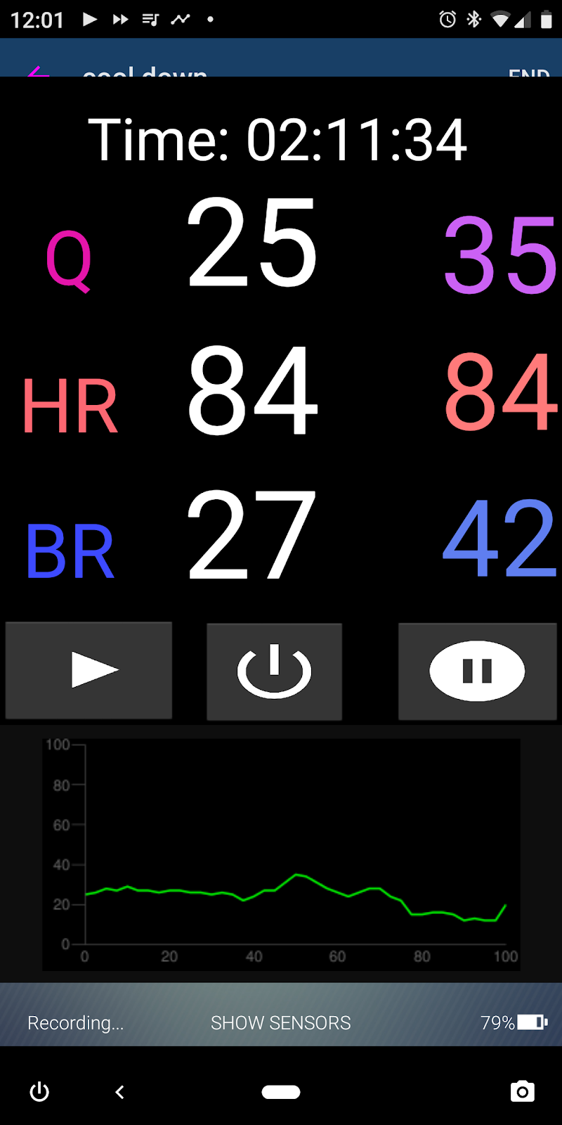 Muscle Oxygen Training: Hexoskin App Overlay - Real time