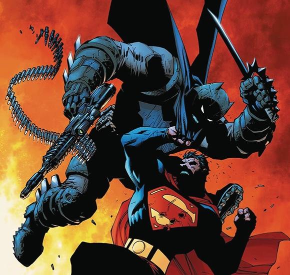 Impresionante combate entre Batman y Superman