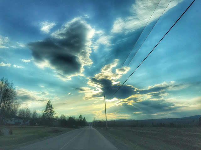 beautiful skies in Linneus, Maine, Alice Hendon