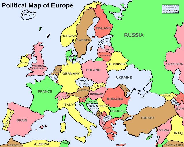 خريطة أوروبا Europe Map