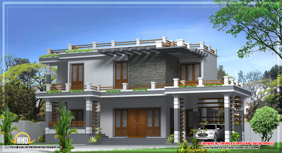 Modern home design in Kerala - 2520 Sq.Ft. - April 2012