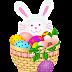 Tubes de Pascua, huevos y conejos