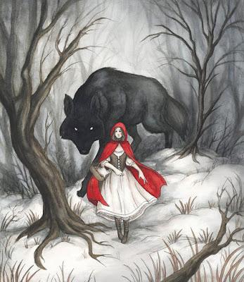 Kisah Ngeri Si Tudung Merah Dengan Serigala