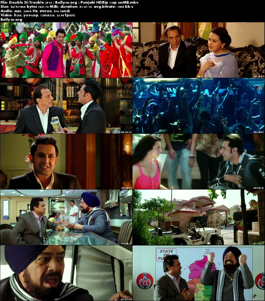 Double Di Trouble 2014 HDRip 800MB Punjabi Movie 720p Download