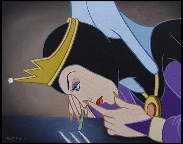 Evil Queen doing cocaine.