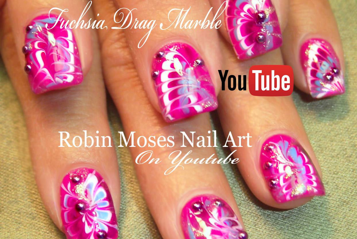 Nail Art by Robin Moses: No Water Marble Nails | Rainbow Drag Nail ...