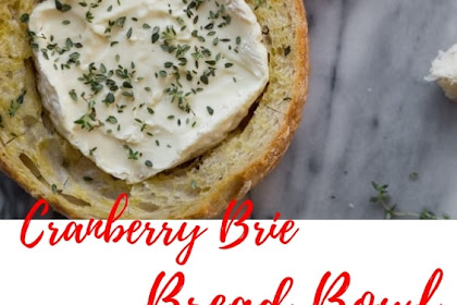 Pull Apart Baked Cranberry Brie Bowl