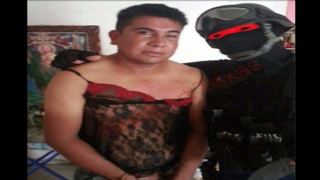 El Marino Loko captura narcos y les pone lencería femenina
