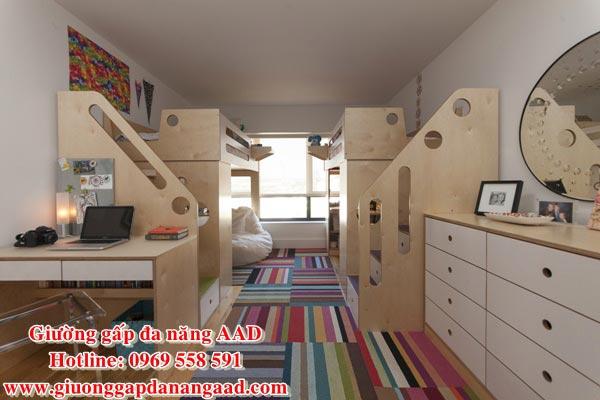 Giường tầng thông minh tiết kiệm diện tích