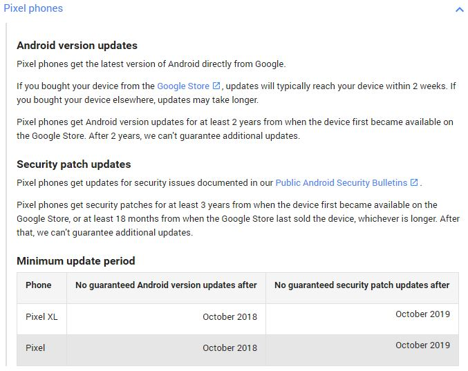 End of Android OS Updates and Security Updates for the Nexus