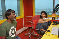 Mega Akash in a sleeveless Off Shoulder Cute Dress Stunnign beauty at Radio Mirchi Promoting Movie LIE ~ Celebrities Galleries 016.JPG