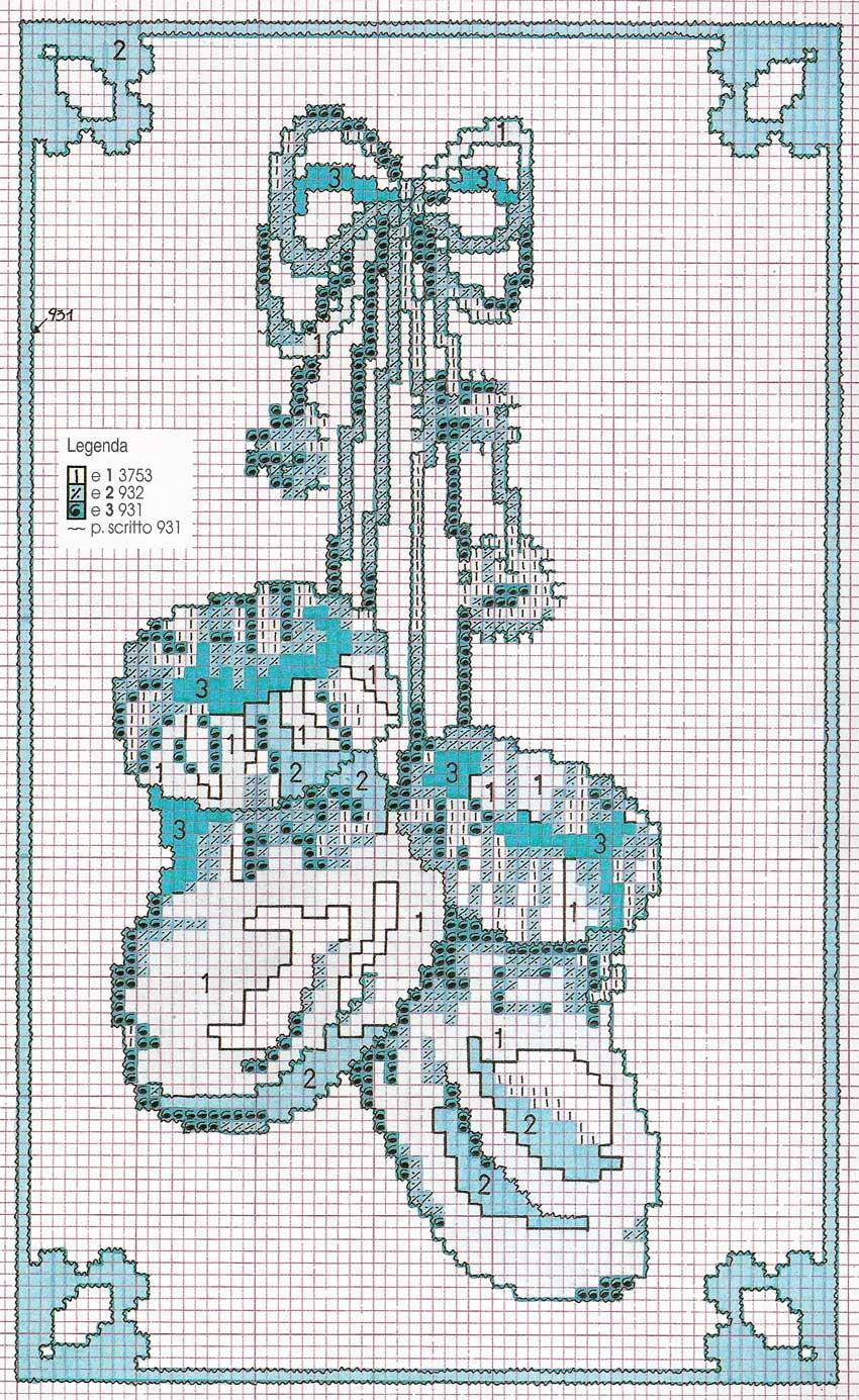 Grande raccolta di schemi e grafici per punto croce free for Idee punto croce neonati