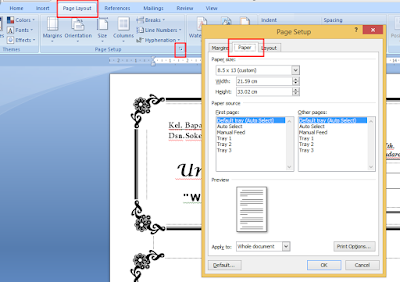 Cara Mencetak Dokumen di Microsoft Office Word Dengan Kertas F4/Folio Dan Tidak Terpotong