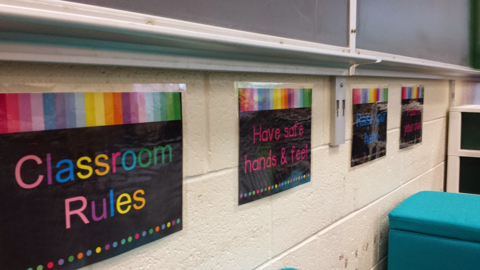 photo of classroom rules posters
