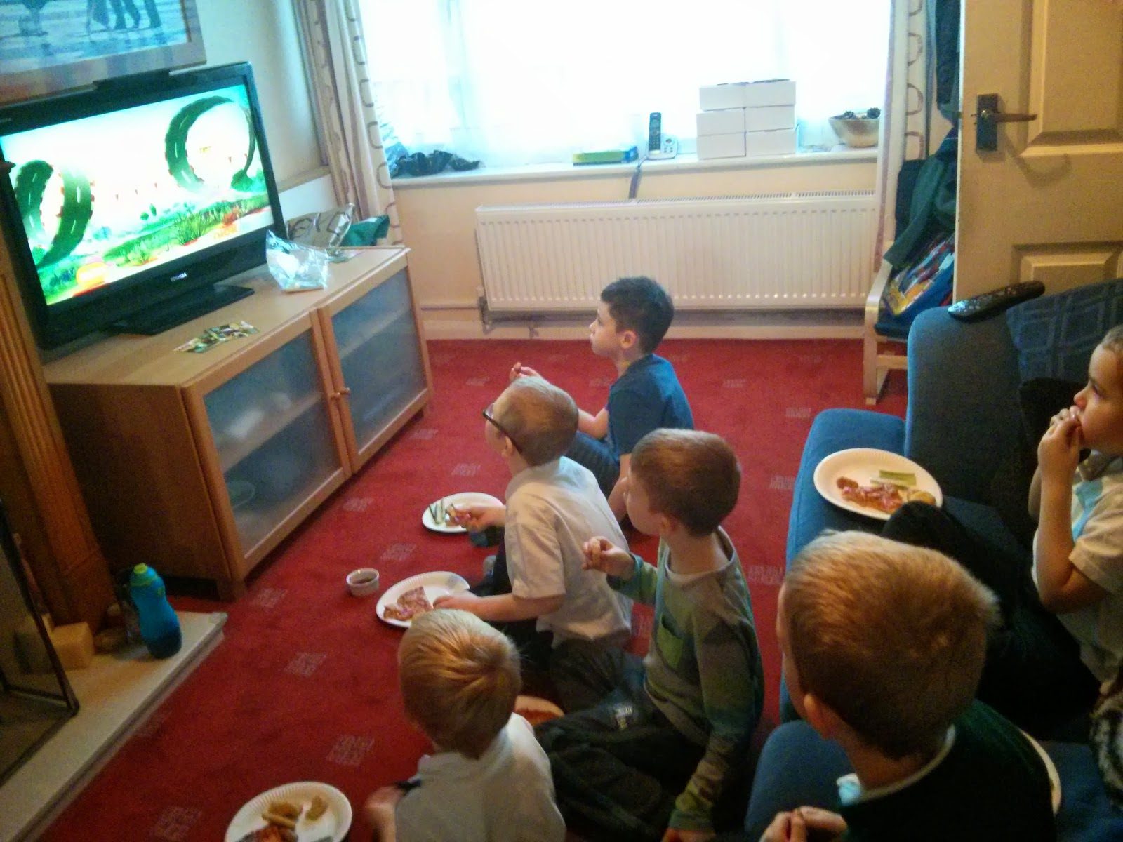 Watching Zack and Quack (with a party tea!)