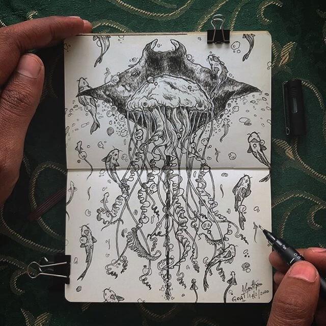 11-Manta-ray-and-fish-Goutham-Tulasi-www-designstack-co