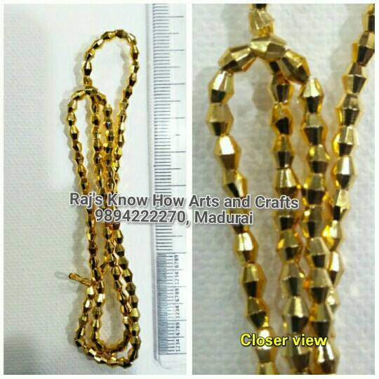 7d977911c S42CS-4mm-Rs.150. S42CM-6mm-Rs.190. S42CL-8mm-Rs.250. These are very high  quality acrylic golden beads used in silk thread jewellery