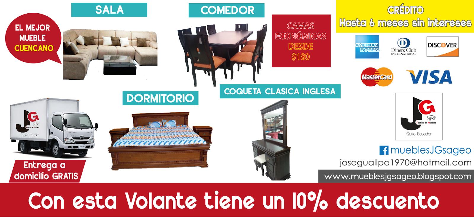Gran Feria en SUR DE QUITO ~ Fábrica de muebles JG - Sageo