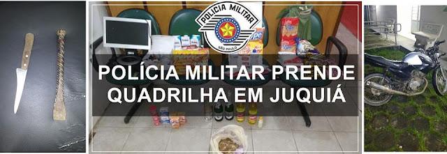 POLÍCIA MILITAR PRENDE QUADRILHA QUE EFETUOU ROUBO A UMA POUSADA EM JUQUIÁ