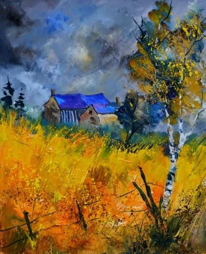 Casas Antigas - Cores fortes e vibrantes nas pinturas de Pol Ledent