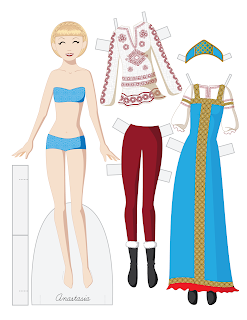 Anastasia - Fashion Friday Paper Doll
