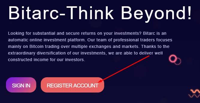 Регистрация в Bitarc