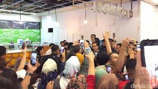 Jokowi di Lippo Plaza Kendari. Foto: detikcom