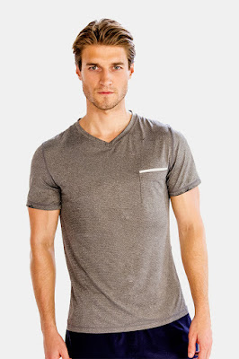 Comfy Half Sleeve V Neck Tees for Men