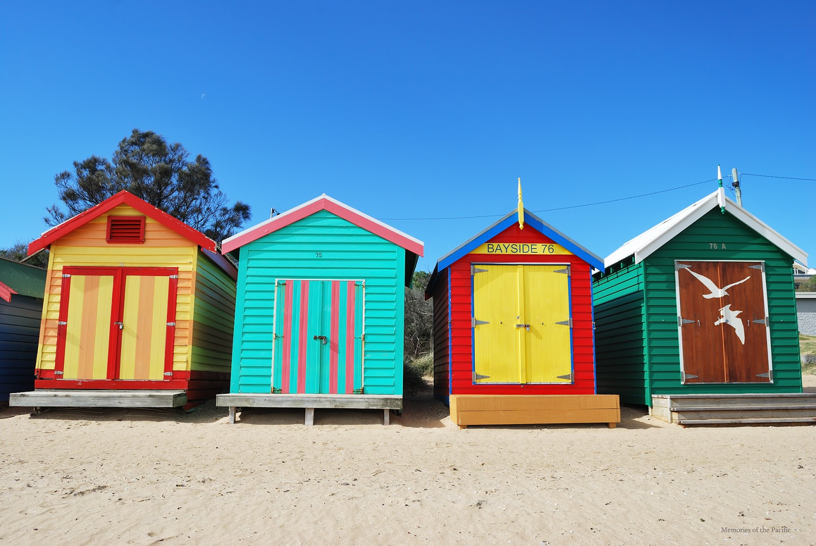 Bathing boxes Brighton Beach Melbourne
