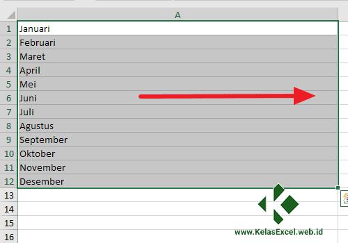 Menggabungkan Teks Excel dengan Fill Justify 2