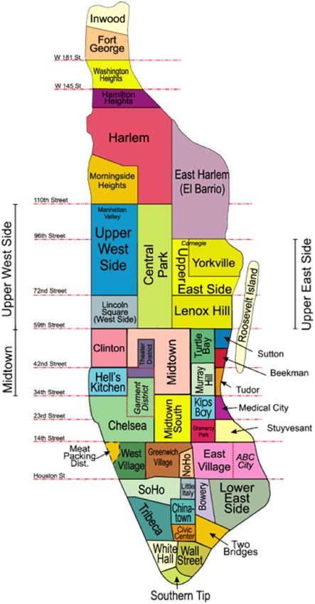 Carte VISITER New York en 6 jours