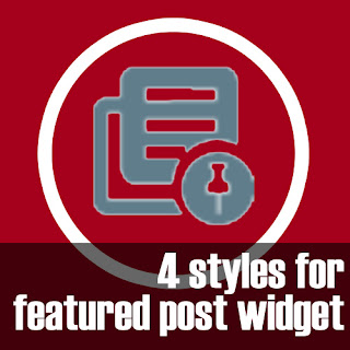 4 Styles untuk Widget Featured Post