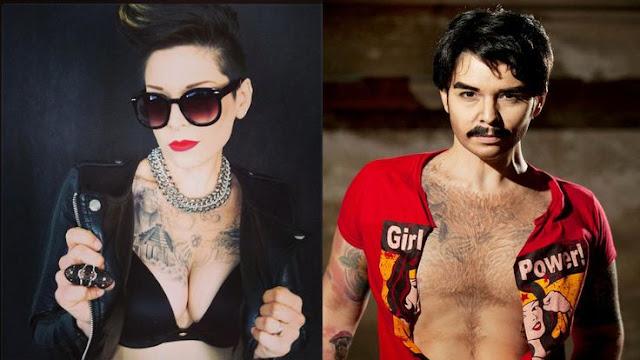 Antes e depois num Drag King