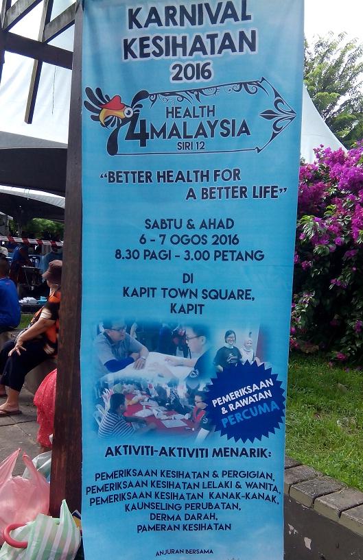 Karnival Kesihatan town square kapit 2016