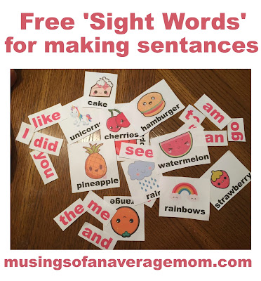 free printable sight words