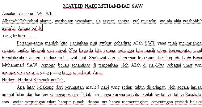 Pidato Kelahiran Nabi Muhammad Saw Beranda Ilmu