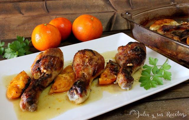 Jamoncitos de pollo a la mandarina. Julia y sus recetas