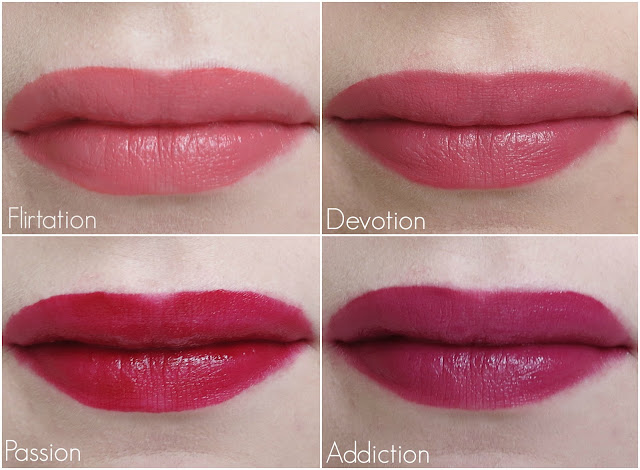 Revlon Ultra HD Matte Lipcolor Flirtation Devotion Passion Addiction