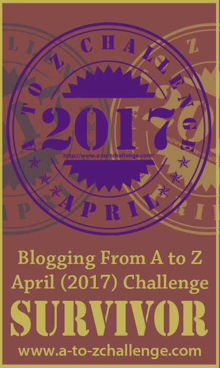 A to Z Blog Challenge Survivor