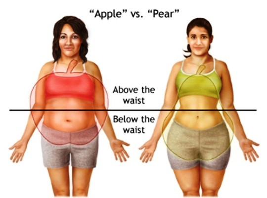 Apple Shape Versus Pear Shape